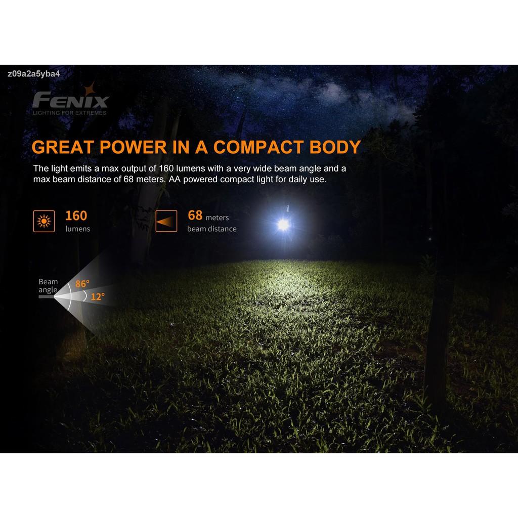 กีฬากลางแจ้ง♛✠◈ไฟฉาย Fenix E12 V2.0 Ultra-Compact AA EDC