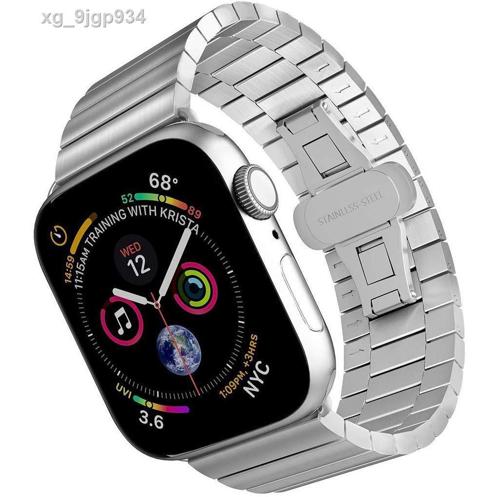 แถบนาฬิกา♤✺☫Apple iwatch watch strap chain stainless steel applewatch SE / 6/5/4/3/2 generation series 38 42mm40 44 อุป