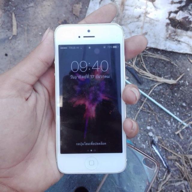 ไอโฟน5 16G เครื่องนอก อุปกรณ์ไม่ครบขาดหูฟัง