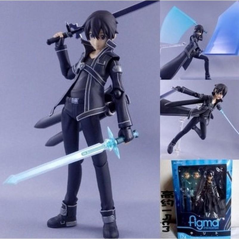 ฟิกเกอร์ figma 174 sword art online sao kirito anime marvel ของเล่นสําหรับเด็ก