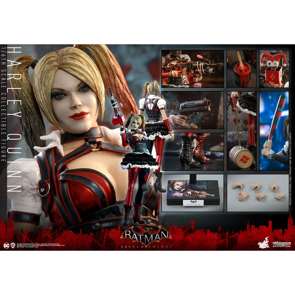 🔜Hot Toys Harley Quinn 1/6 Scale Video Game Batman Arkham Knight Action Figure Toyรู