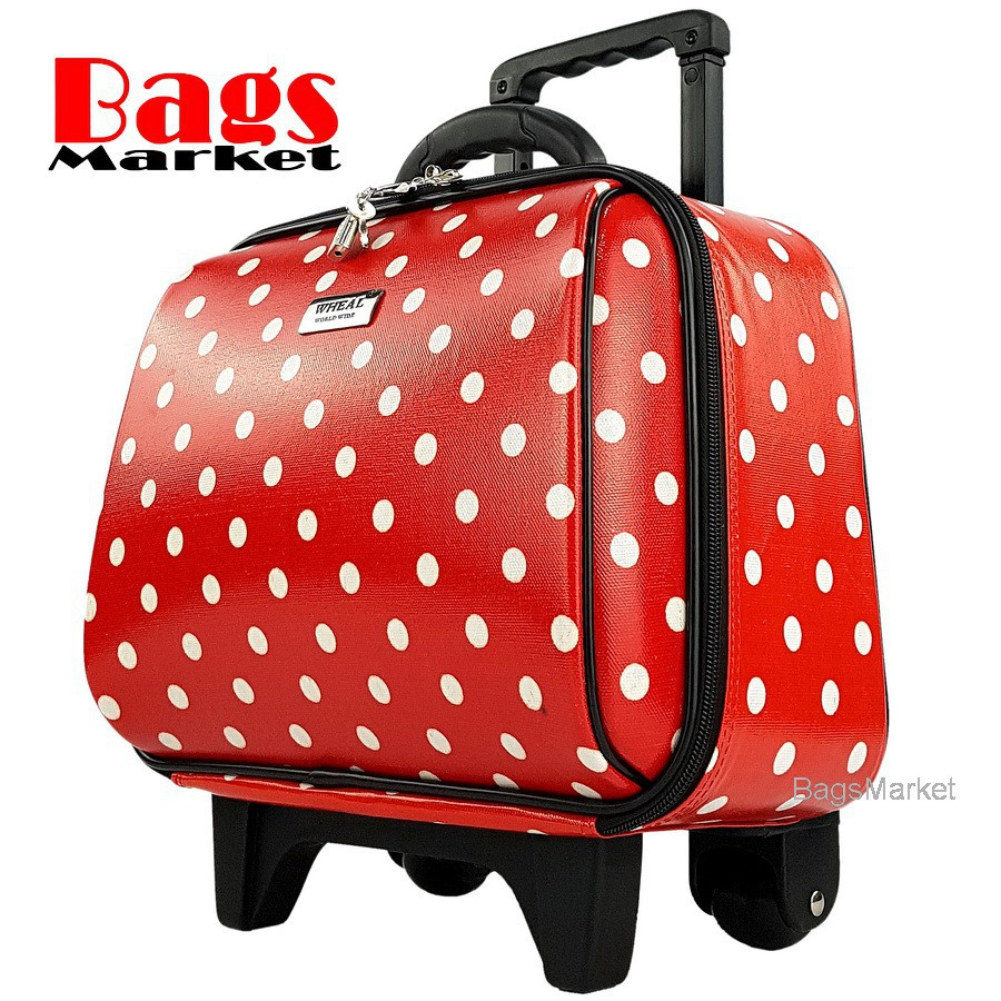 กระเป๋าเดินทางล้อลาก Luggage Wheal คุณภาพดี 14 นิ้ว 2 ล้อ Code F771914-4 B-Dot (Red) กระเป๋าล้อลาก กระเป๋าเดินทางล้อลาก