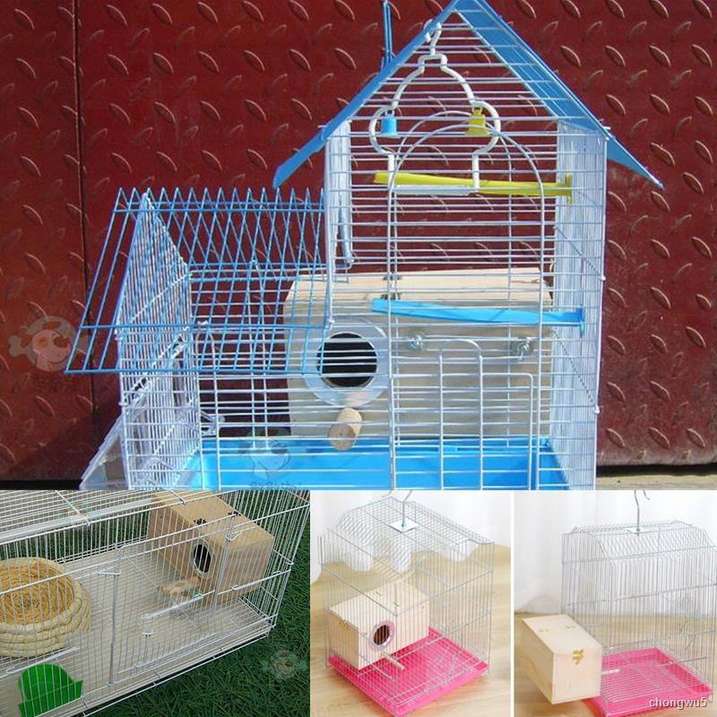 ไม้บ้านนกรังนกกล่องเพาะพันธุ์นกนกแก้วพันธุ์กรงตกแต่งอุปกรณ์สัตว์เลี้ยงตกแต่งบ้านระเบียง