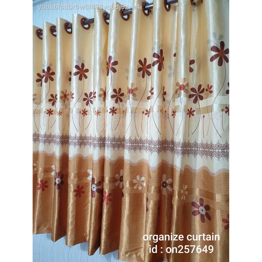 ▬ผ้าม่านหน้าต่าง ลายดอกไม้ ผ้าหนาพิมพ์หน้าเดียว ผ้าม่านประตู ผ้าม่านสำเร็จรูป ผ้าม่านเจาะตาไก่ ผ้าม่านกันยูวี 70%