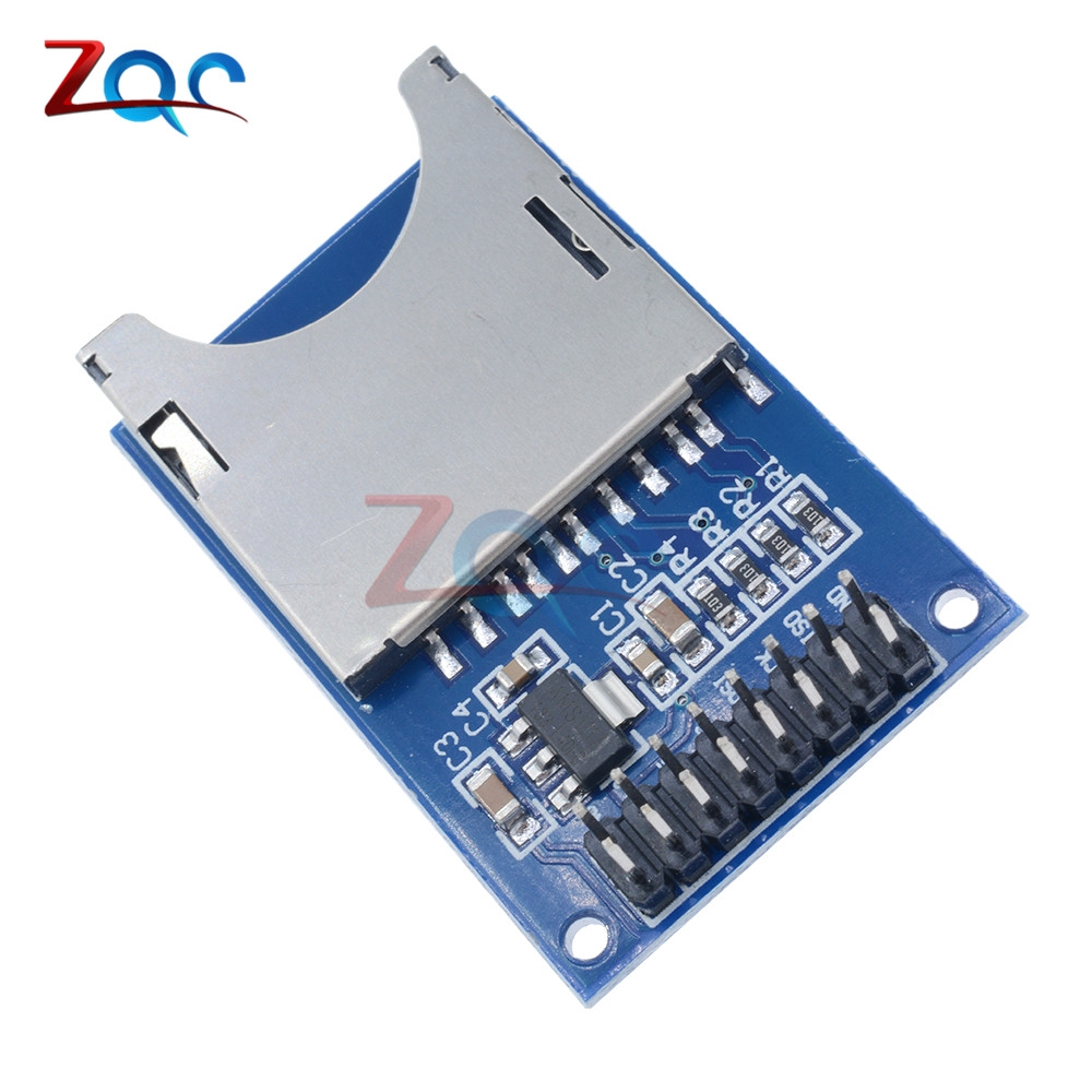 1PCS Read And Write For ARM MCU  Card Module Slot Socket Reader 3.3V