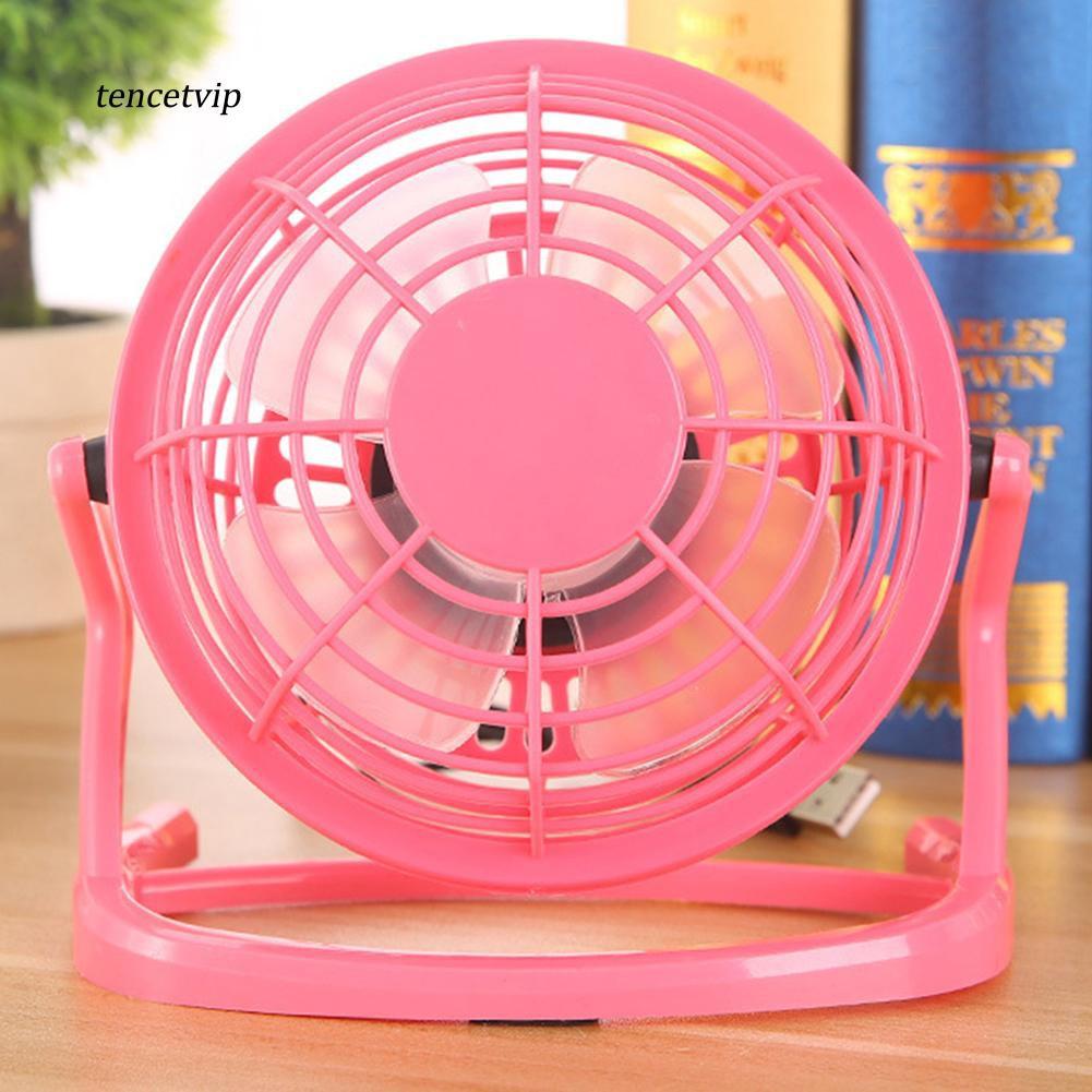 USB Fan Metal Mini Portable Quiet Desktop Desk Silent Laptop PC Cooler Cooling