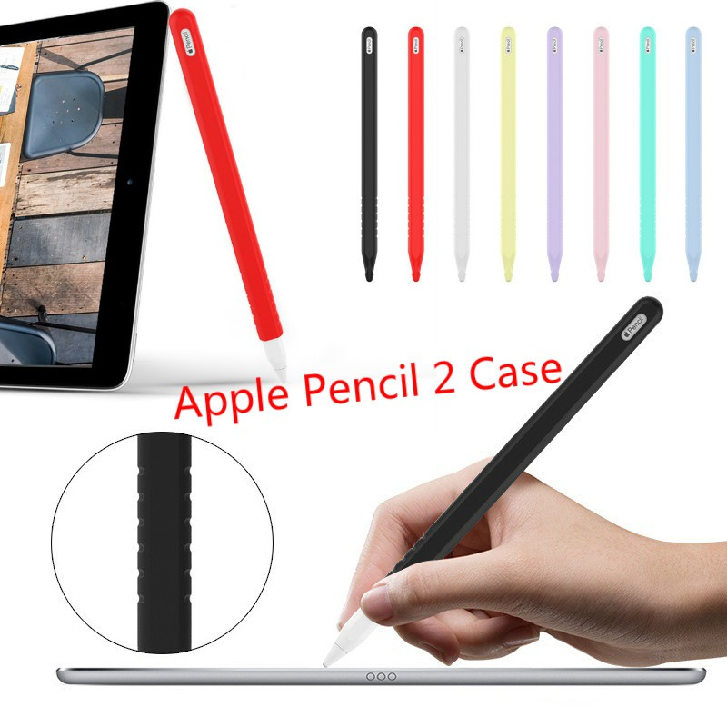 เคสซิลิโคน Apple Pencil 2 Case gen 2 ชาร์ตผ่านเคสได้ ป้องกันกระแทก Stylus for ipad pro 11 12.5 นิ้ว iphone