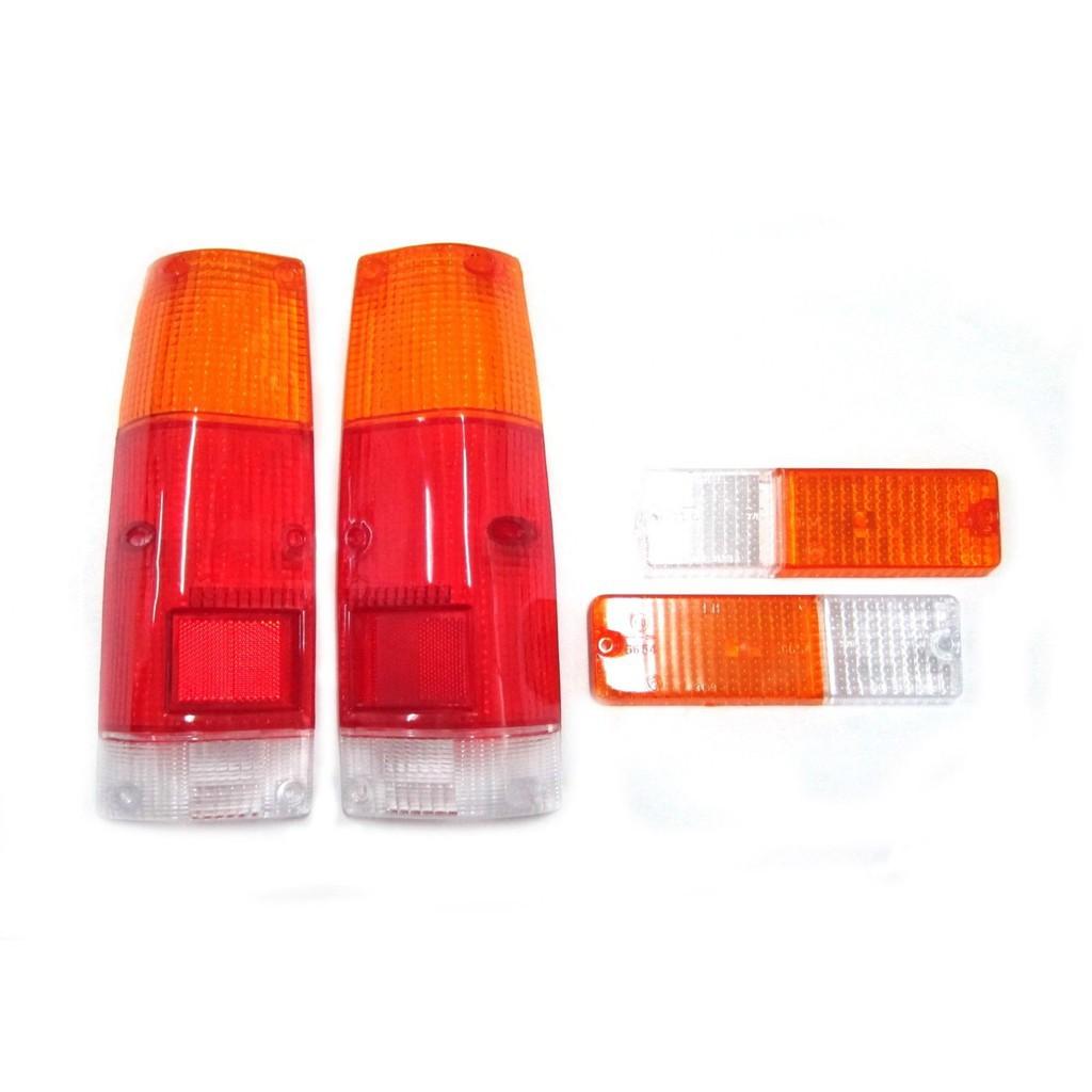 (4ชิ้น) ฝาไฟท้าย+ฝาไฟหรี่กันชน อีซูซุ KBZ KB21 KB26 1983-1988 ฝาสามสี ส้ม/ขวา/แดง ISUZU HOLDEN RODEO KB/ KBZ/ KB21/ KB26