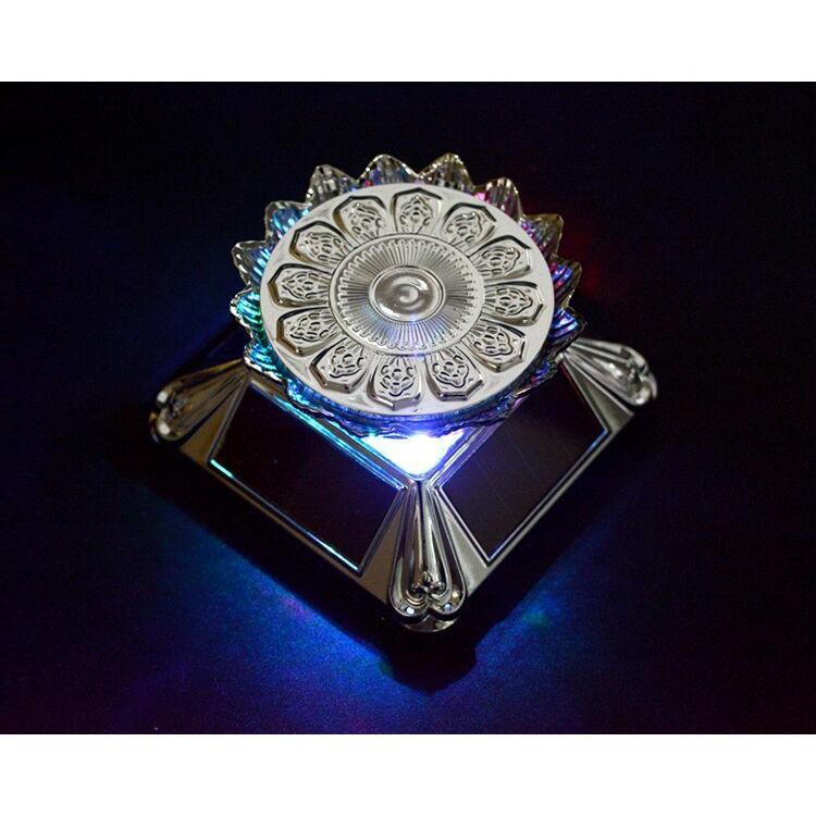 ❅Rotating-Base Garage-Kit Solar Action-Figure-Box Estartek for Egg-Exhibition LED Lotus