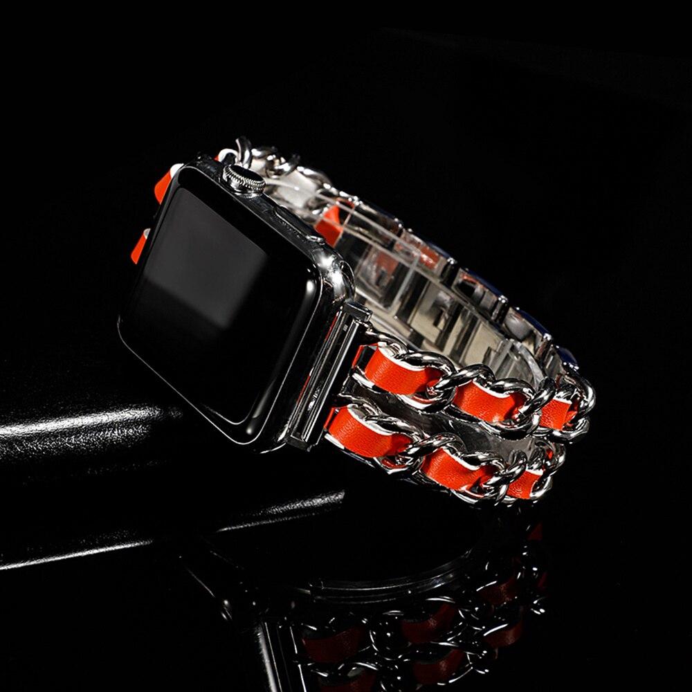 สายนาฬิกาข้อมือสแตนเลสสําหรับ Apple Watch Series 5 4 3 38/40/44 มม. Iwatch Band 38 มม. 42 มม. 40 มม. 44 มม.