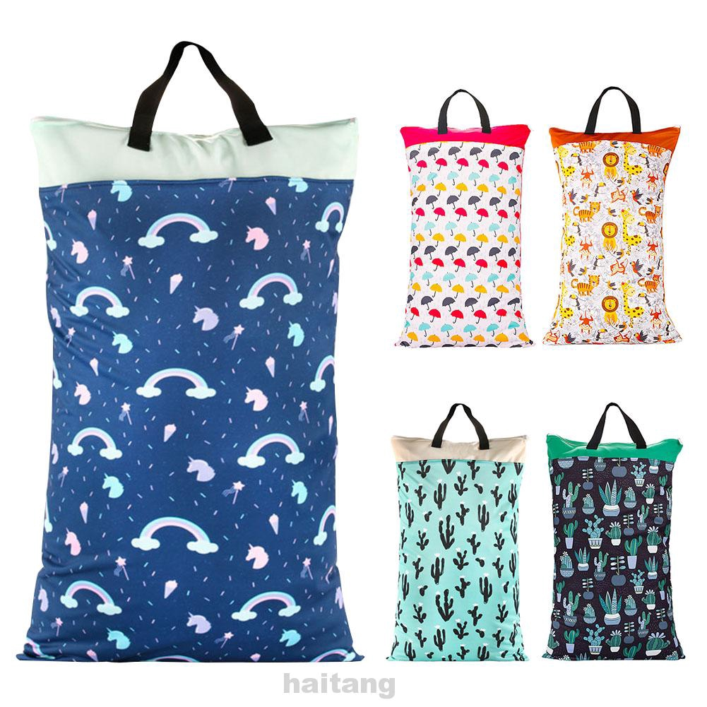 Wet Dry Daily Cloth Diaper Bag Hanging Inserts Nappy Waterproof Large Capacity Clothes Storage Bag
