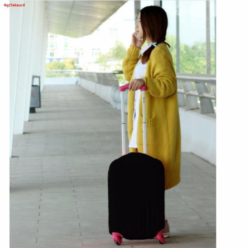 Lowest price❦▦ถุงผ้าคลุมกระเป๋าเดินทาง แบบผ้ายืด ไซร์ M ขนาดกระเป๋า 22-24 นิ้ว - สีดำ