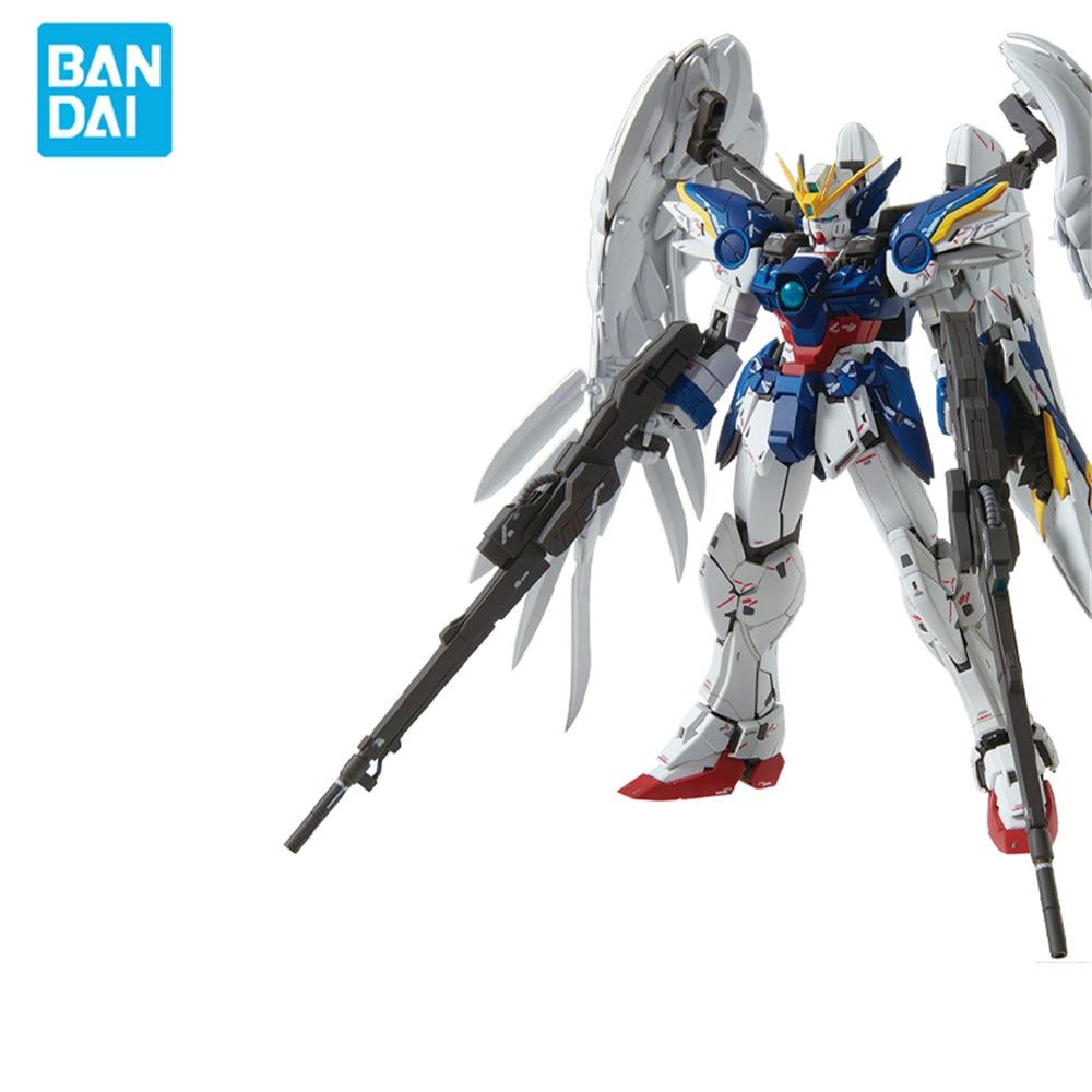 Bandai Gundam Assembly MG 1/100Ver.Ka Wing Gundam Zero XXXG00W0 Garage Kit Gundam Joint Action Collection Figure Toy Gif