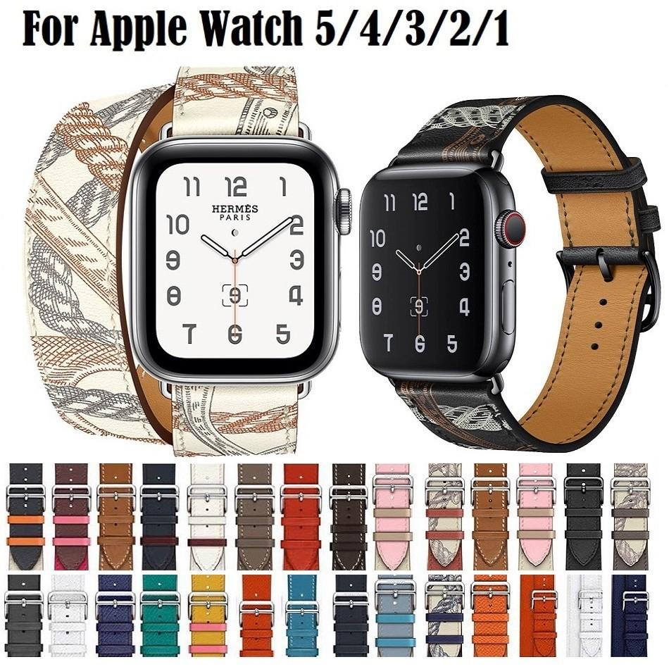 สาย applewatch สายนาฬิกา applewatch ใหม่ แฟชั่น สาย Apple watch มีทุกขนาด ทุก Series สายหนัง Leather สายนาฬิกาข้อมือ iWa