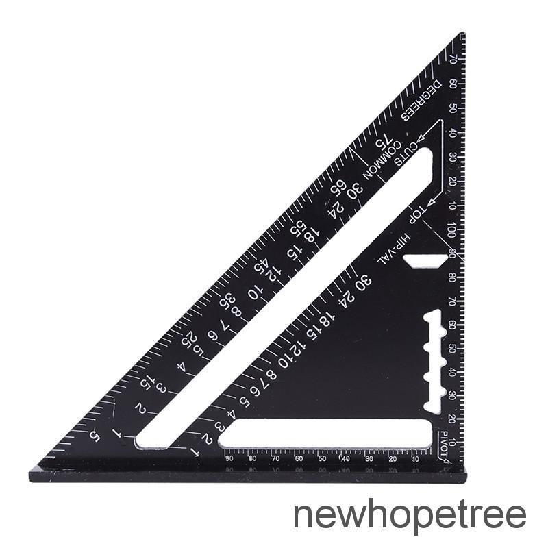 7 Black Metric Triangle Square Ruler Aluminum Alloy Speed Square Protractor Miter for Carpenter Measurement Tool