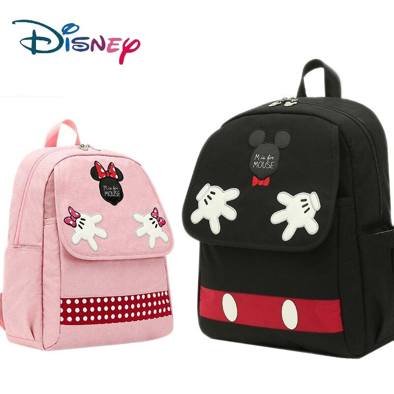 Disney Mummy Diaper Bag กระเป๋าคุณแม่ผ้าอ้อมผ้าอ้อมสำหรับดูแลเดินทางกระเป๋าเป้สะพายหลังดีไซเนอร์ Disney Mickey Minnie กระเป๋าถือกระเป๋าใหม่