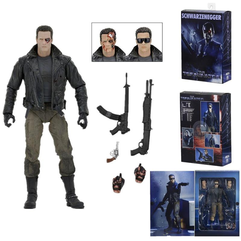 Original NECA Terminator Figure T-800 Police Station Version Schwarzenegger  Action Figure Collectible Model Toy Gift 18