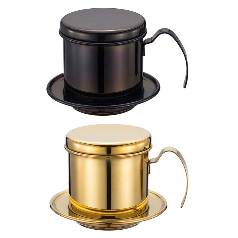 ชุดเครื่องต้มกาแฟเวียดนาม หม้อกรองกาแฟ สำหรับการชงกาแฟ ทำฟองนม