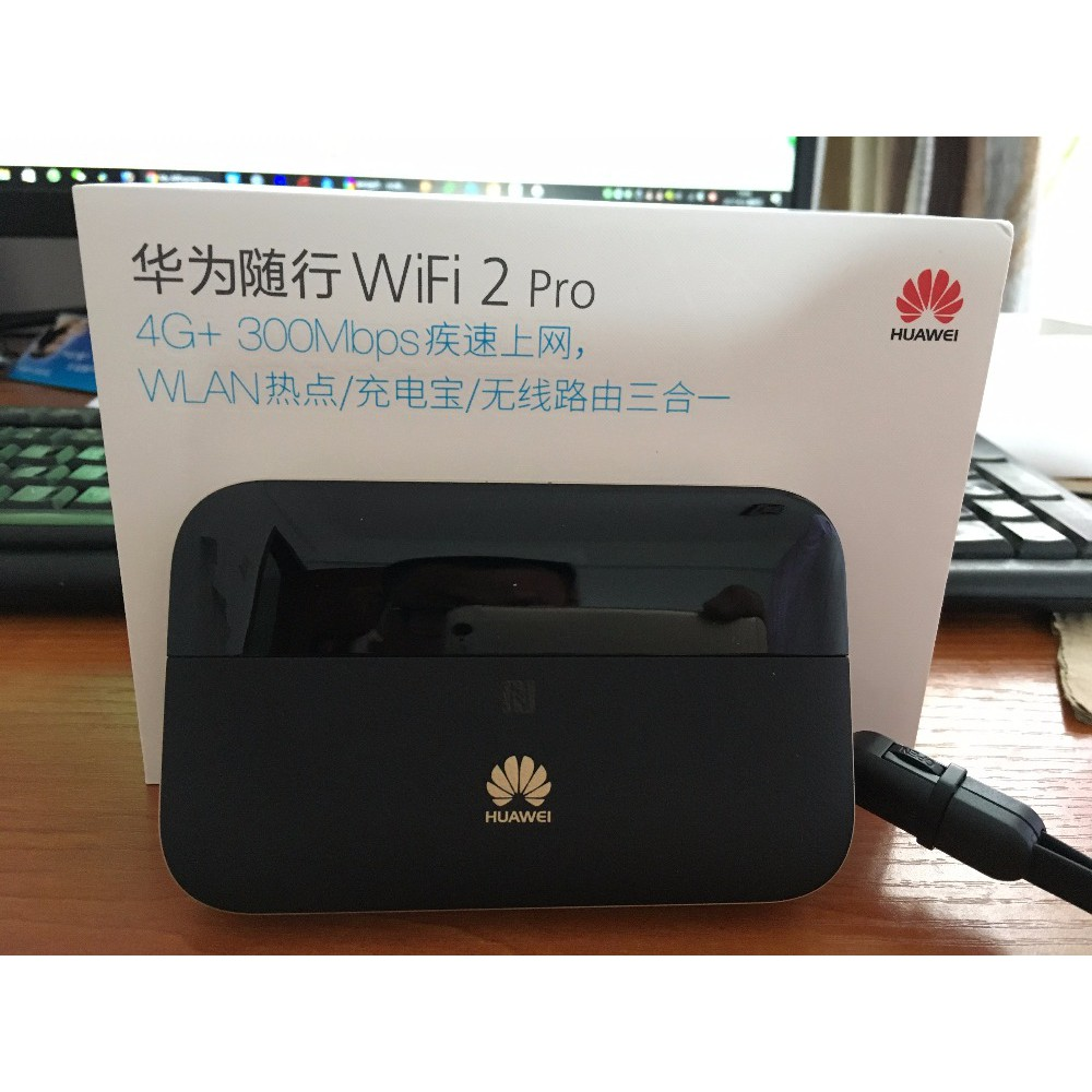 Huawei WiFi 2 Pro E5885 Wireless Mobile Pocket WiFi Router with Ethernet  Port support 6400mAh power bank NFC