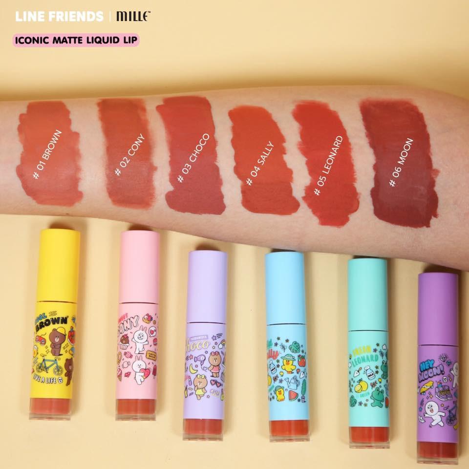 L Mille Liquid Iconic Friends Lip Matte Line