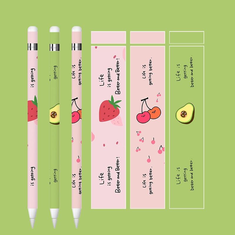Cute For apple pencil 1 / 2 stickers Scratchproof Ultra Thin Painted stickers Touch Stylus pen sticker Non-slip Protective paper