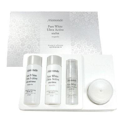ผลการค้นหารูปภาพสำหรับ Mamonde Pure White Ultra Active Trial Kit Magnolia