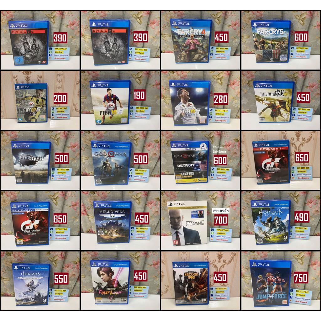 แผ่นเกม PS4 Games มือสอง หลายรายการ ชุด2