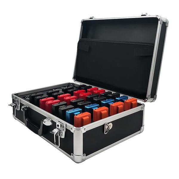 Retekess TT009 แบบพกพา 32 สล็อตชาร์จกรณีกล่องเก็บกระเป๋าเดินทางสำหรับ Retekess TT105 ระบบไกด์นำเที่ยวไร้สาย