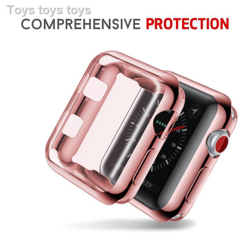 เคส for Apple AirPods เคสซิลิโคนอ่อนนุ่มสำหรับซิลิโคนครอบใสฮาร์ด caseSuitable for Apple iwatch watch applewatch6 protective cover 1/2/3/4/5/SE/6 generation silicone TPU all-inclusive shell 42/44/40/38mm with anti-drop personalized soft