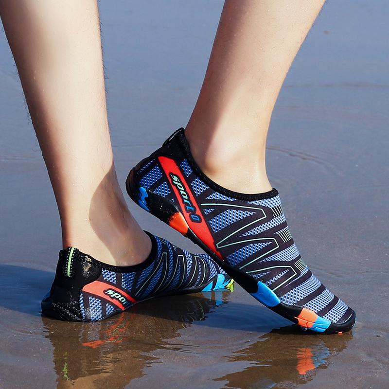 รองเท้ายน้ำแท้ 100% รองเท้าเดินชายหาด รองเท้าเล่นทะเล รองเท้าว่ายน้ำ สีพื้น รองเท้าเดินทะเล