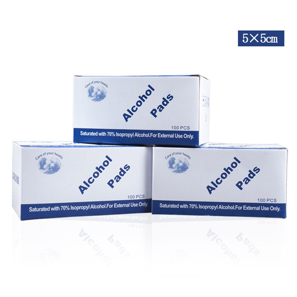 ❀Super 100 Pcs/Box Tablets Disposable Medical Disinfection Wound Alcohol  Wipes