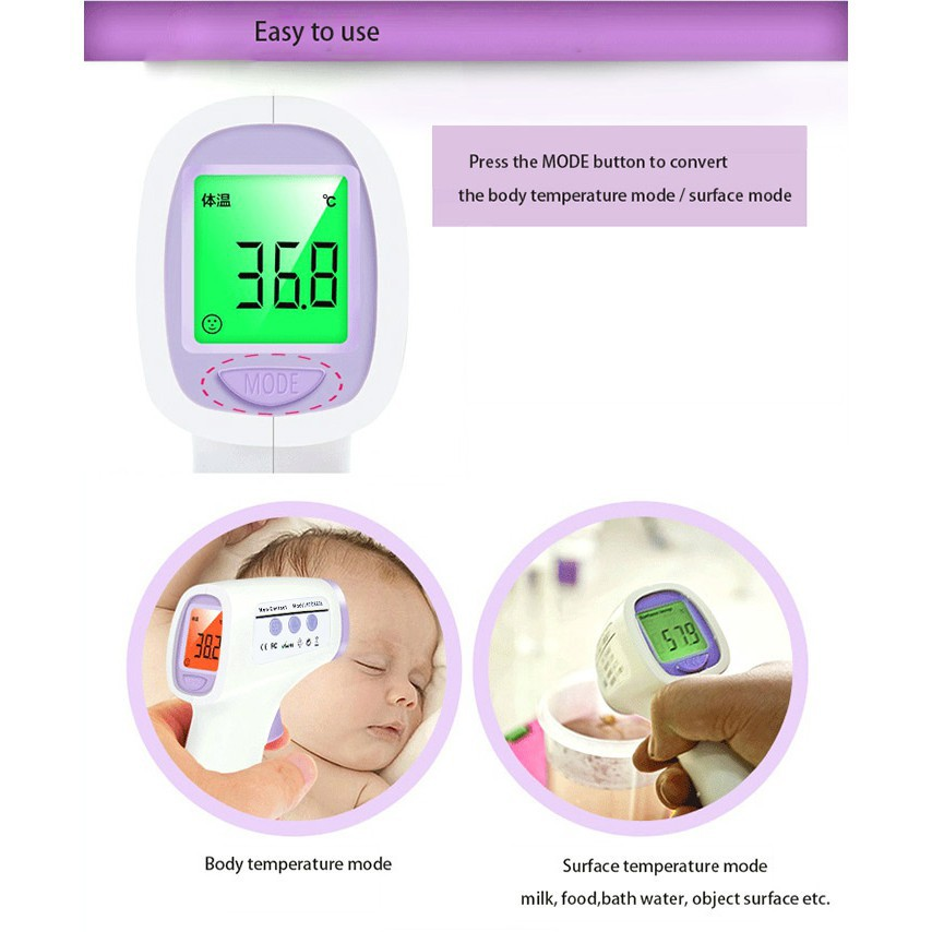 UV - 8808 Infrared Gun Thermometer Non-contact IR Temperature Measurement  Device