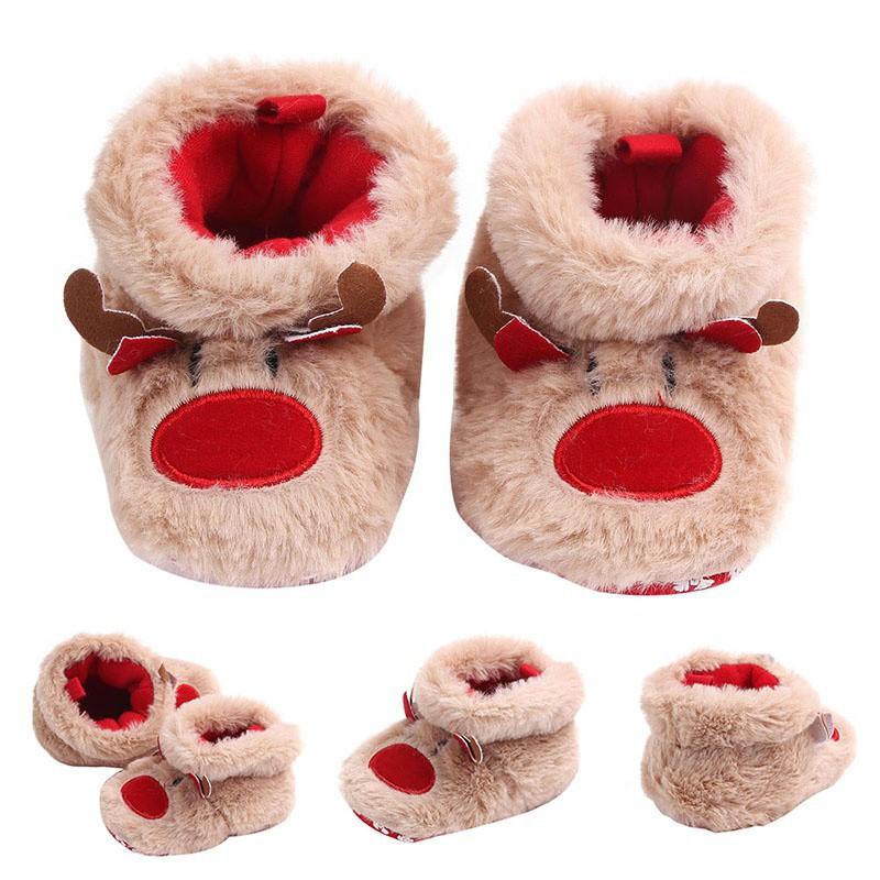 Newborn Baby Girls Toddler Cartoon Cute Anti-Slip First Walkers Soft Sole Shoes
