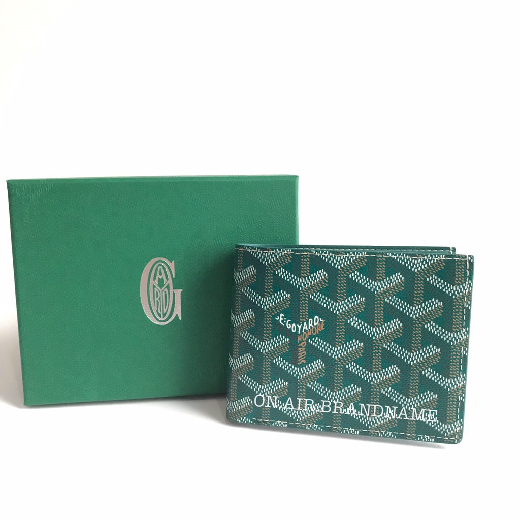 ♗New goyard wallet สีเขียวหายาก สวยมาก