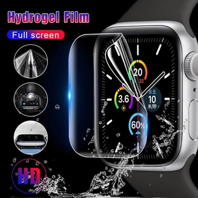 Apple Watch 12345 44มม 40มม ฟิล์มไฮโดรเจลกันรอยหน้าจอ Clear Full Coverage Protective Film for iWatch 4 5 40mm 44mm 38/42
