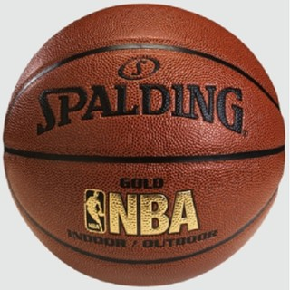 SPALDING บาสเก็ตบอล Basketball PU NBA Gold In/Out #7 (51078)