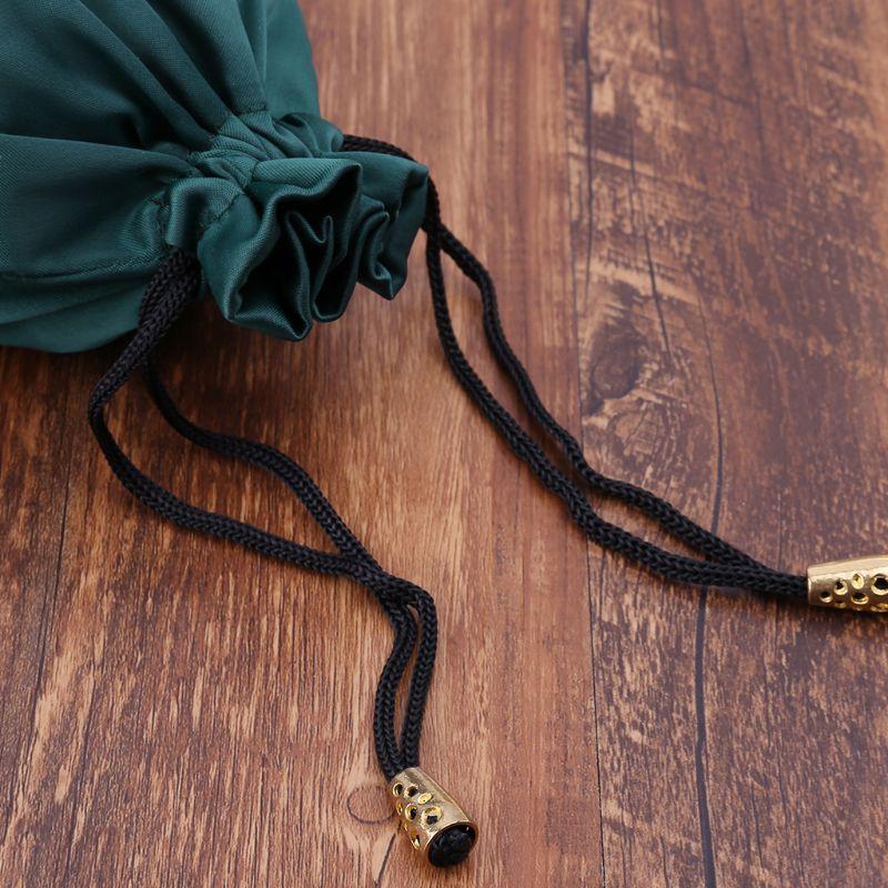Tarot Storage Bag Pentagram Satin Tarot Bag Dungeons and Dragons Toy Jewelry Tarot Storage Bag Drawstring Package