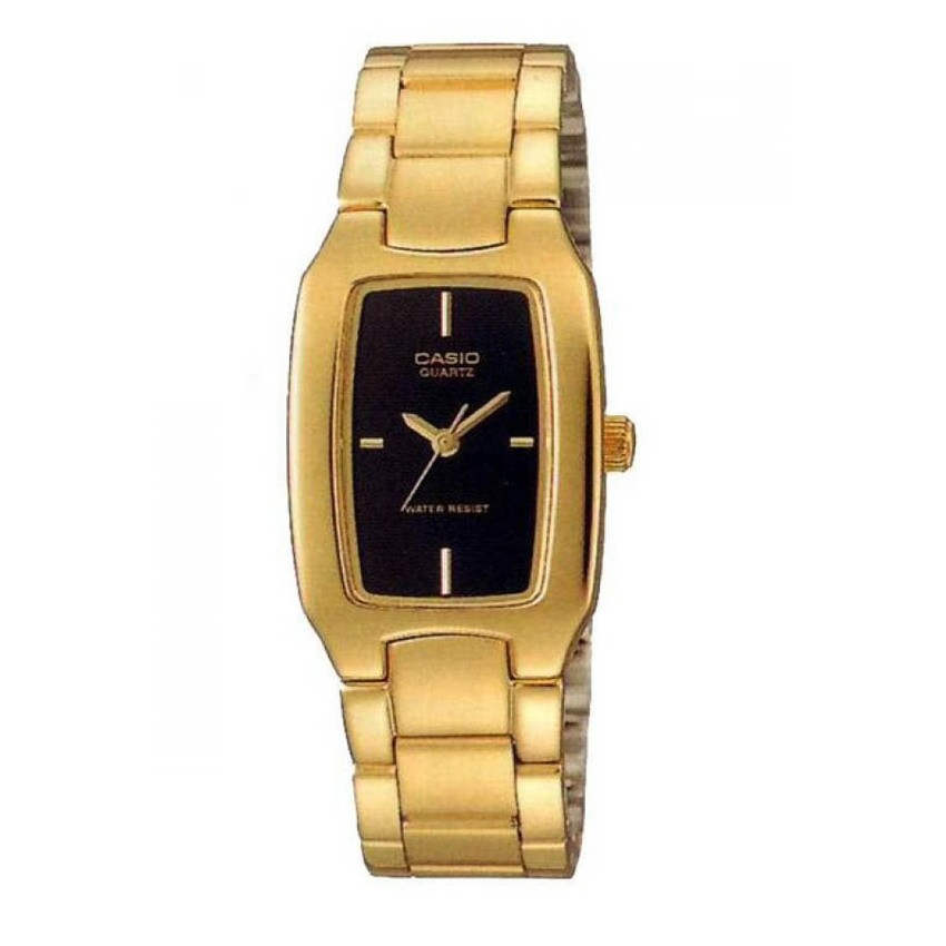 Casio นาฬิกาข้อมือผู้หญิง สายสแตนเลส รุ่น LTP-1165N-1CRDF - Gold