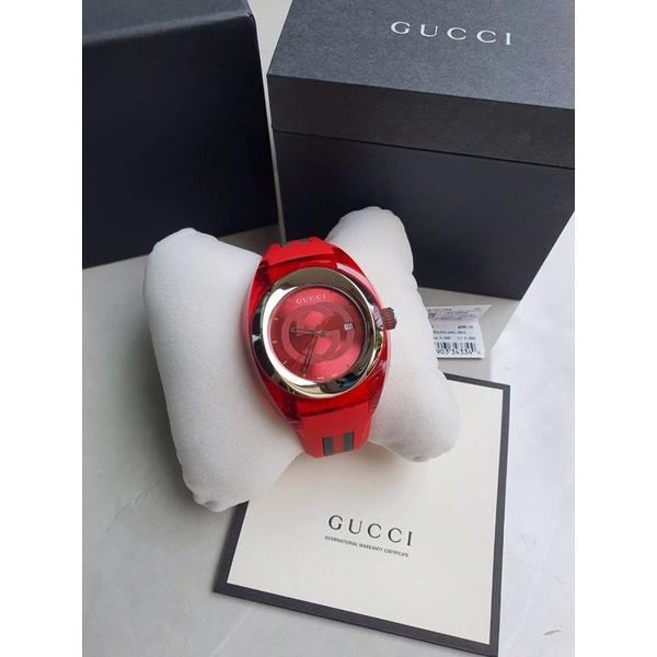 🦋สินค้าพร้อมส่ง🦋  New🍥 Gucci Sync Watch 45mm. สาย rubber หล่อมากก ✨✨ สวย หรู ราคาดีมากก