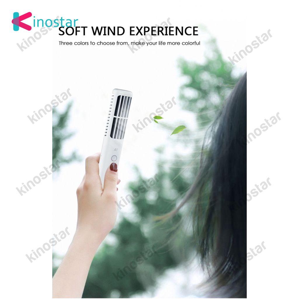 ~NEW~ New Version Mini Rechargeable Portable Fan AC Portable Fan Aircon Bladeless Fan KNstar