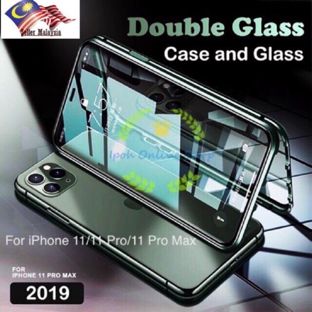 ( Front And Back Glass ) เคสโทรศัพท์มือถือแบบสองด้านสําหรับ Iphone 11 / 11 Pro / 11 Pro Max