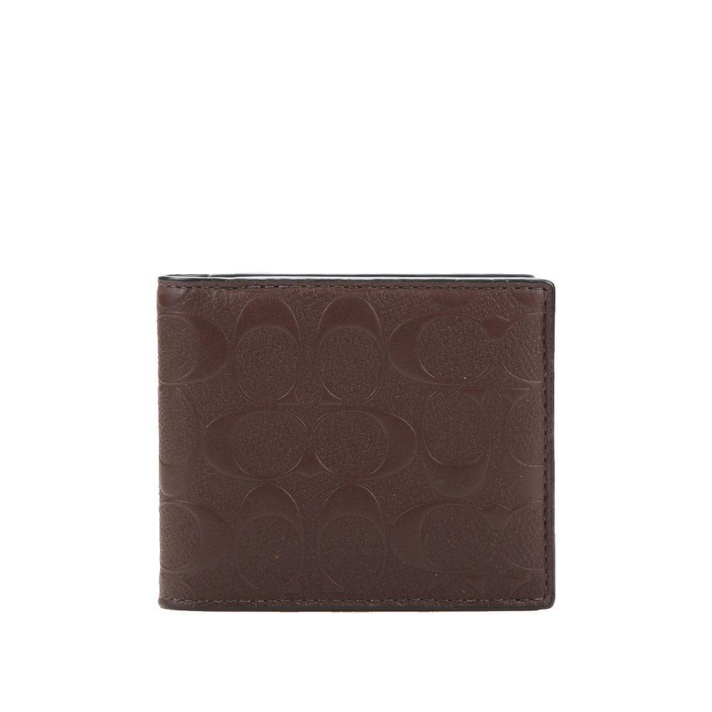 สหรัฐ mail โดยตรง COACH COACH กระเป๋าสตางค์ผู้ชายใบสั้น กระเป๋าสตางค์ แพคเกจบัตร F75363 qJxK