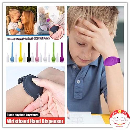 สายรัดข้อมือเจลล้างมือ ชนิดพกพา เหมาะสำหรับเด็กและผู้ใหญ่