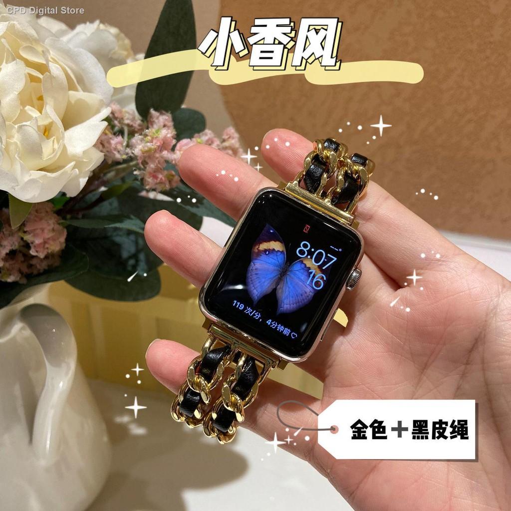 【อุปกรณ์เสริมของ applewatch】✎✠เหมาะสำหรับสาย iwatch ขนาดเล็กกลิ่นโลหะสแตนเลส นาฬิกาแอ็ปเปิ้ลเหล็กพร้อมสาย Applewatch