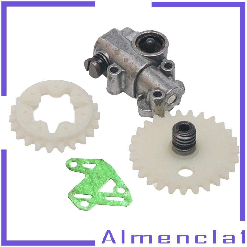 ( Almencla1 ) ชุดล้อปั๊มน้ํามันเกียร์สําหรับ Stihl Ms 028 038 048 380 381