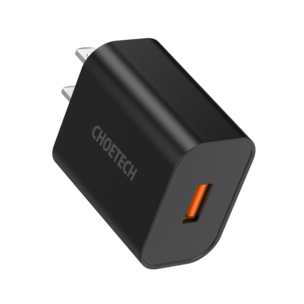 CHOETECH QC 3.0 Fast Charger หัวชาร์จ usb อุปกรณ์ชาร์จ 18W Quick Charging ค่าการชาร์จแบบเร็ว 3.0 ผนังที่ชาร์จอย่างรวดเร็วชาร์จ USB Adapter for Iphone Samsung