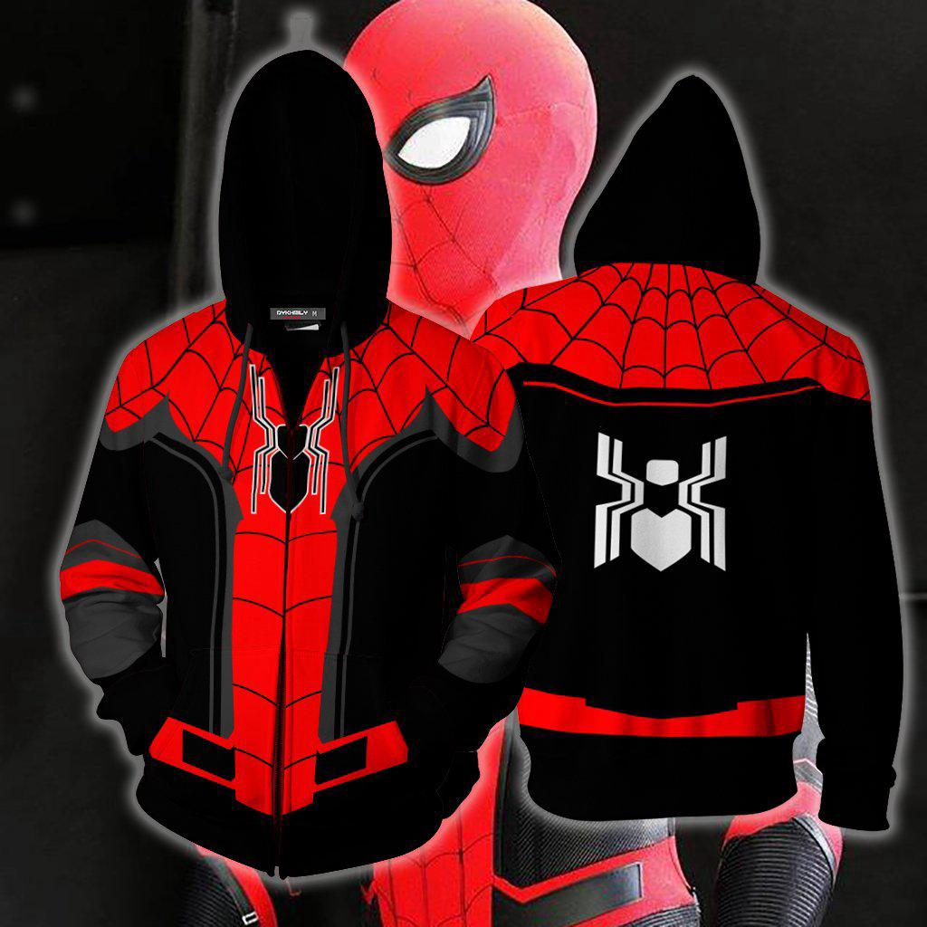 Boys Kids Spider-man Zip-Up Costume Hoodie Sweatshirt  O42
