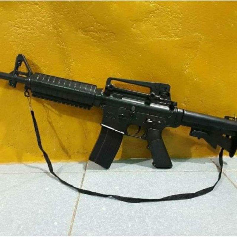 ปืนเด็กเล่นอัดลมมีปืนM16กับปืนสไนเปอร์