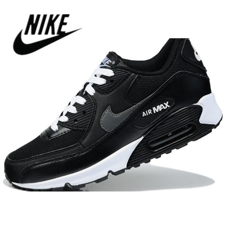 2021 Nike-Air Max 90 Airmax คลาสสิกสีดำสีขาวผู้ชายผู้หญิงสีขาวสีดำสีฟ้าเท้าผ้าท้าวิ่ง