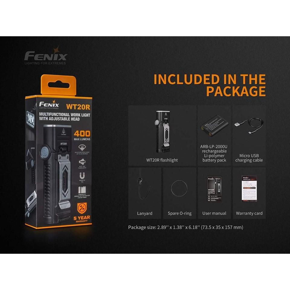 ไฟฉาย  Fenix  WT20R  สินค้าตัวแทนในไทยมีประกัน  3 ปี